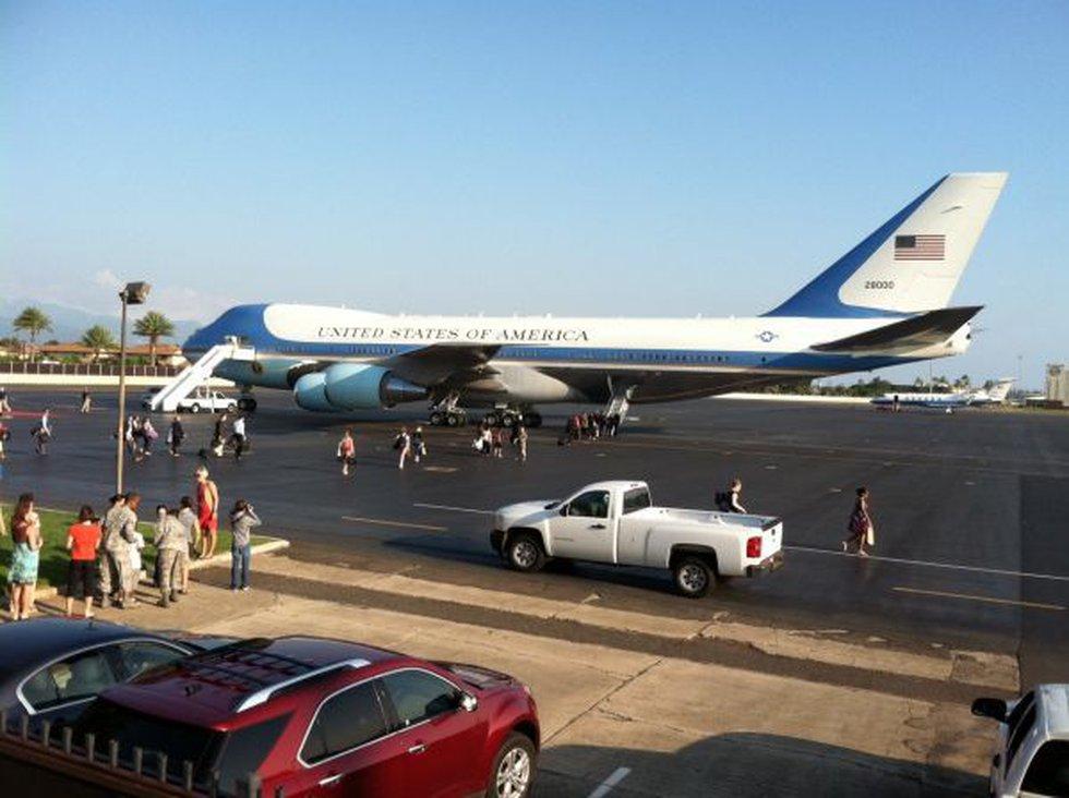 Air Force One at Hickam Air Force Base