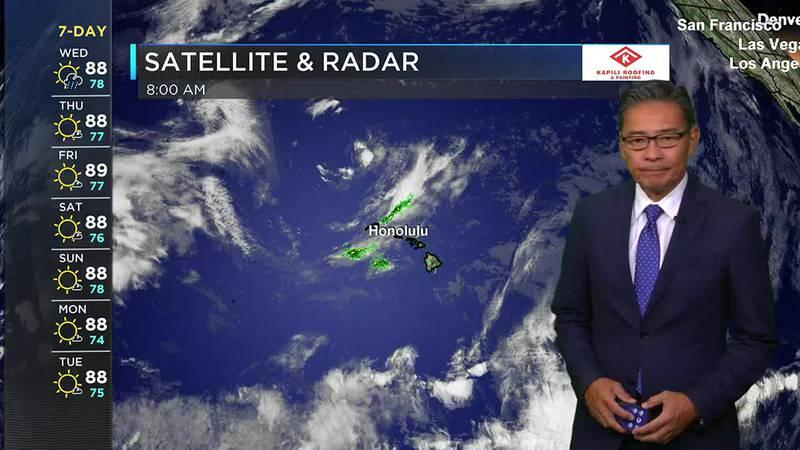 Hawaii News Now Sunrise Morning Weather Forecast - Wednesday, July 28, 2021