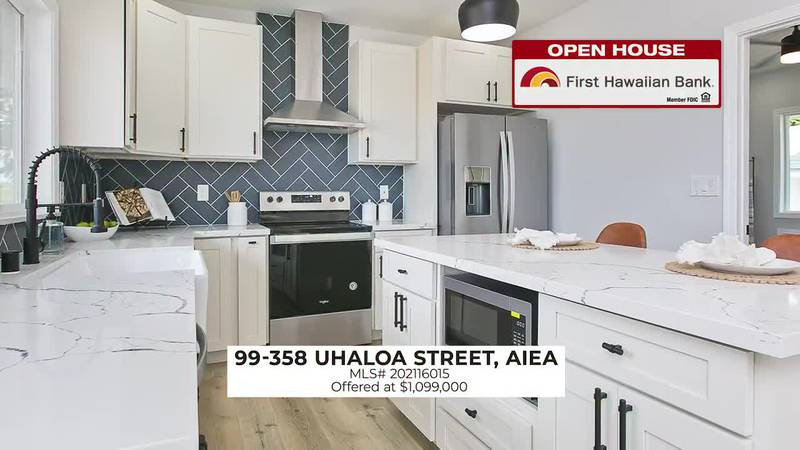 Open House: Beautiful renovated 4 BD home in Aiea and a gorgeous ocean view home in Hawaii Loa...