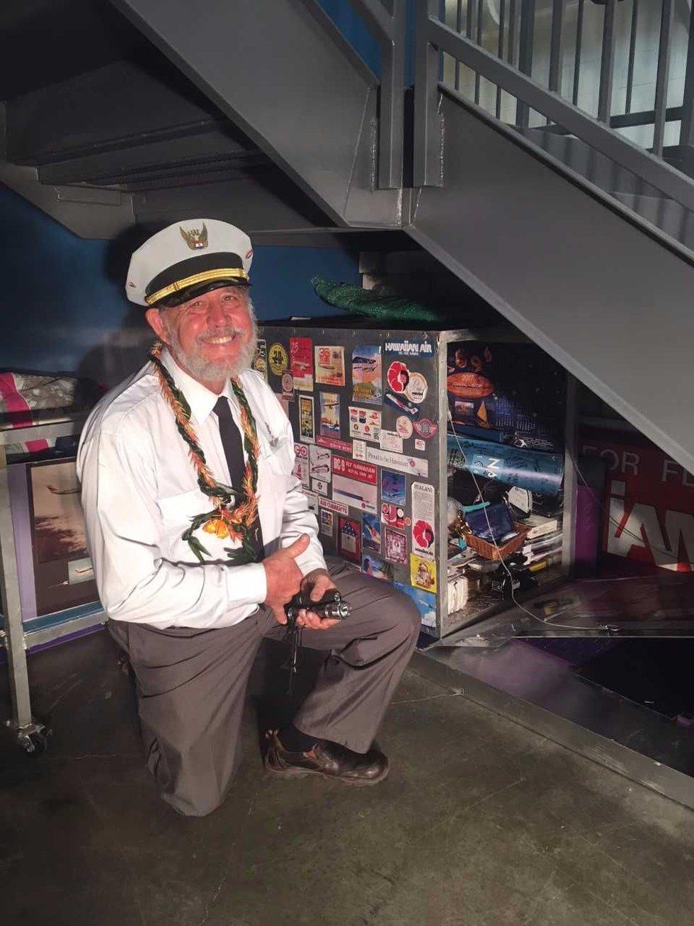 Hawaiian Airlines archivist Capt. Rick Rogers. (Image: Hawaiian Airlines)