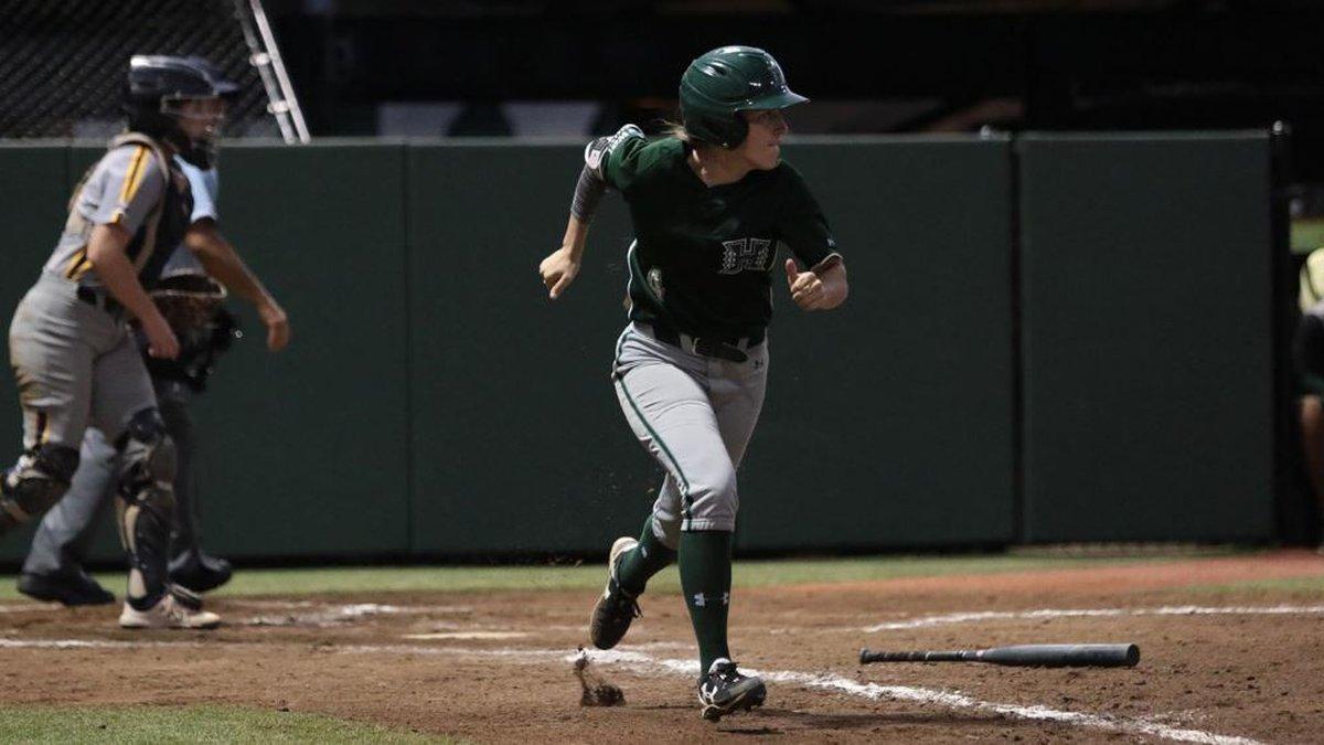 The University of Hawai'i softball team (2-3) split its Saturday doubleheader to earn third...