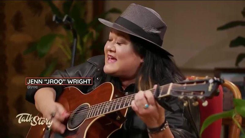 "Jenn ""JRoQ"" Wright throws down a soulful performance on Talk Story"