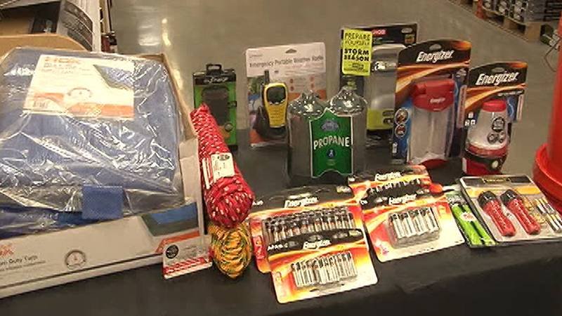 Here are some of the supplies people are urged to get for an emergency storm kit.