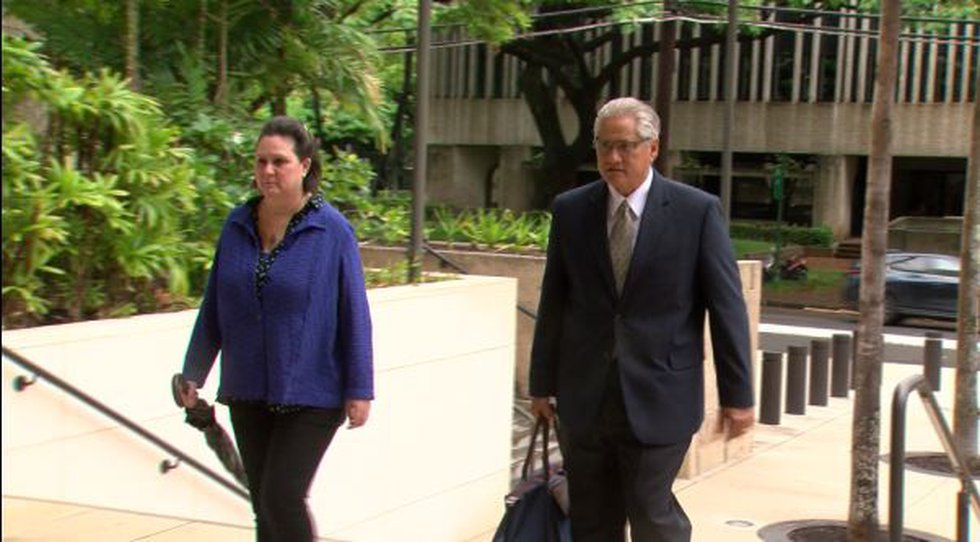 Kealohas walk into federal court on Day 18 of the mailbox trial, the final day of closing...