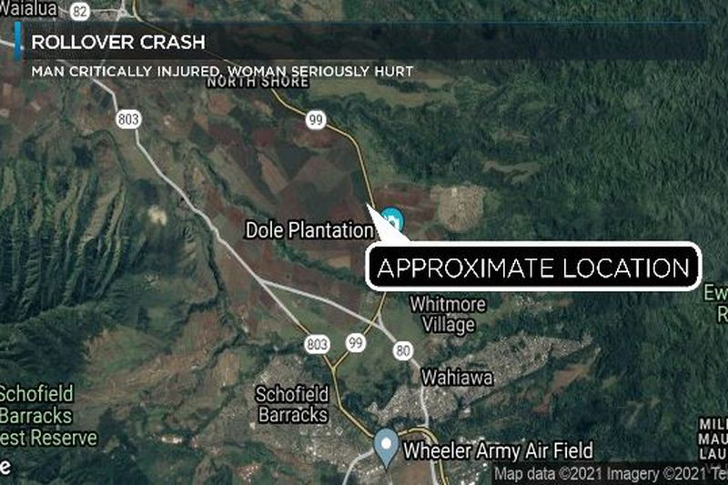 Approximate location of Monday's crash.