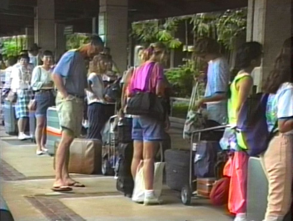 Visitors fled to Lihue Airport hoping to get off the island.