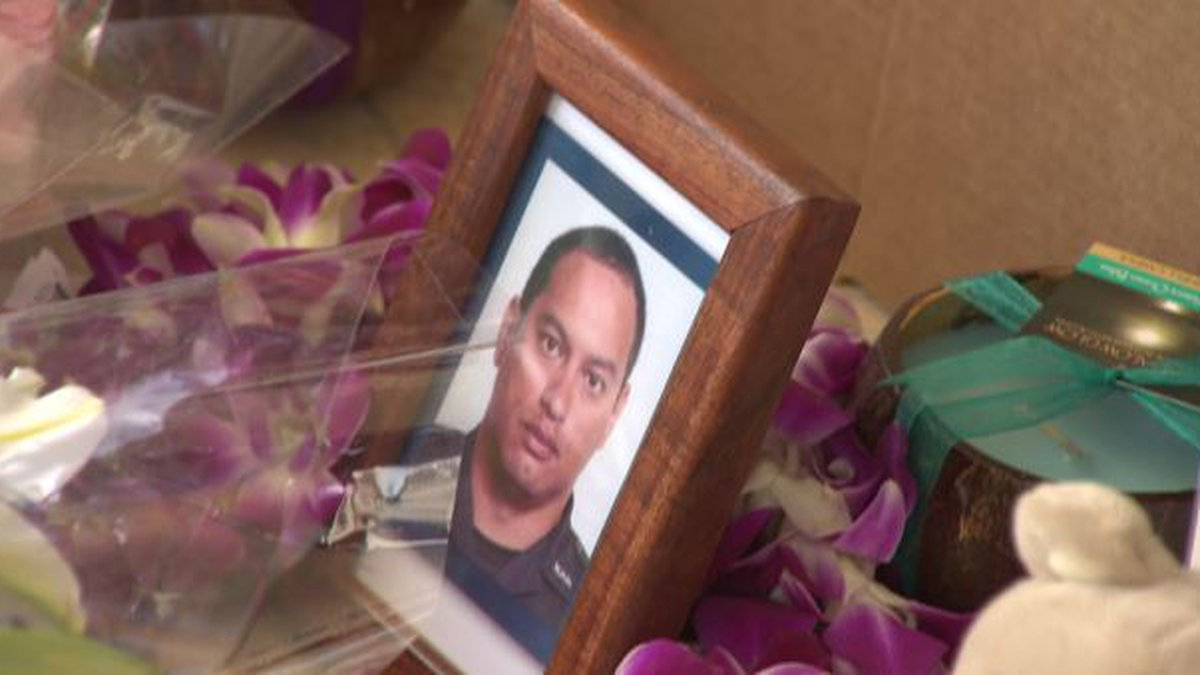 Officer Kaulike Kalama was fatally shot Sunday as part of a violent rampage in the Diamond Head...