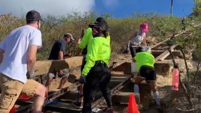 Volunteers replaced hundreds of wooden ties and poured countless buckets of gravel to restore...