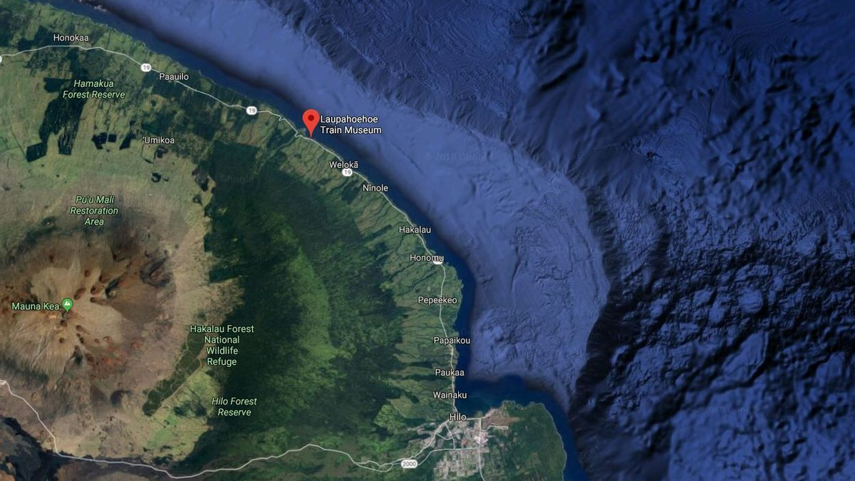 The advisory stretches from Hilo Bay to Laupahoehoe. (Image: Google Maps)