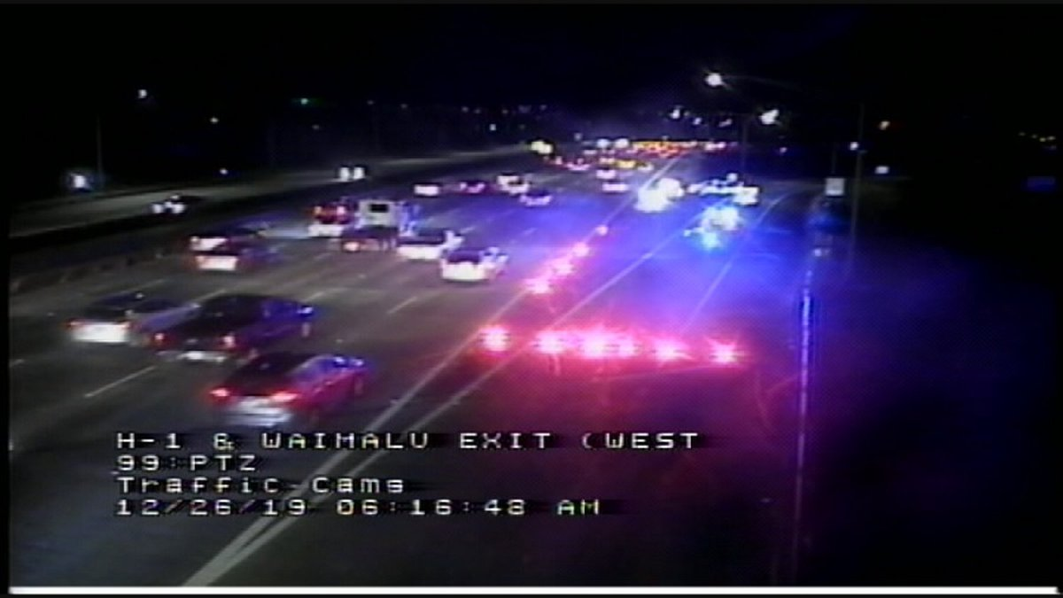 Police closed off the Waimalu exit from the H-1 Freeway on Thursday morning following a...