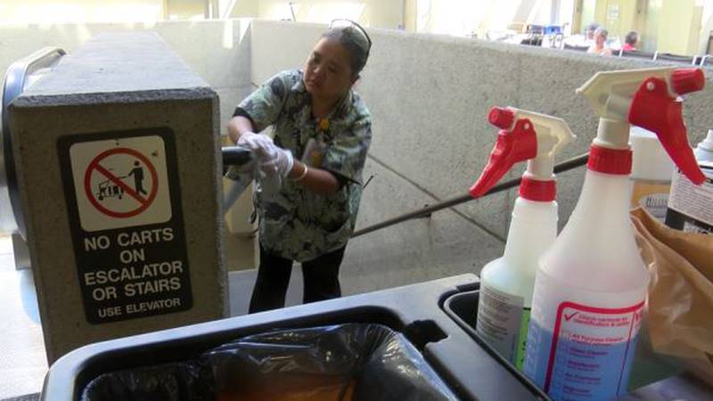 The state is dialing up efforts to sanitize Hawaii's airports amid growing concerns about the...