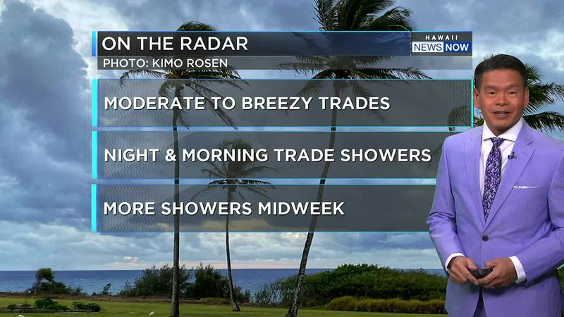 There could be an increase in showers for the latter half of the week.