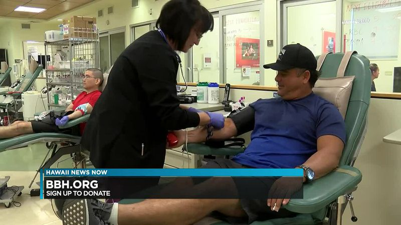 Right now, they have less than a 2-day supply of blood, and an even greater shortage of the...