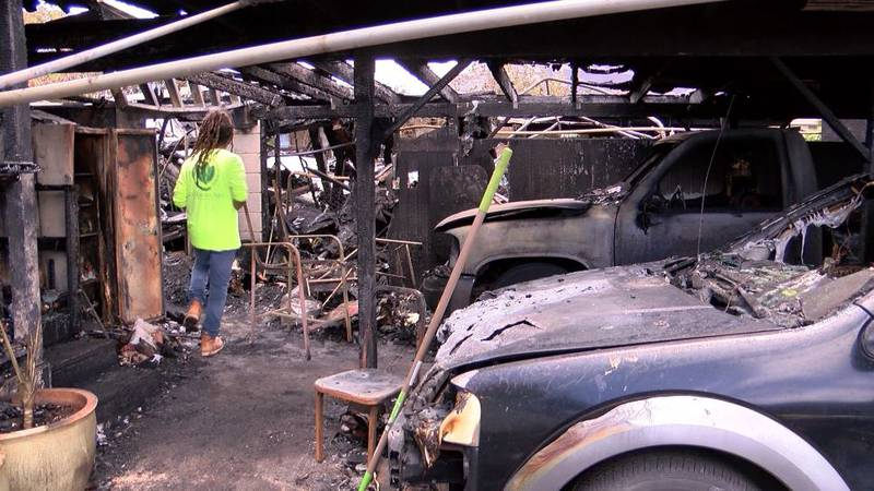 The fire caused $730,000 in damage. Loved ones began sifting through what was left Sunday.