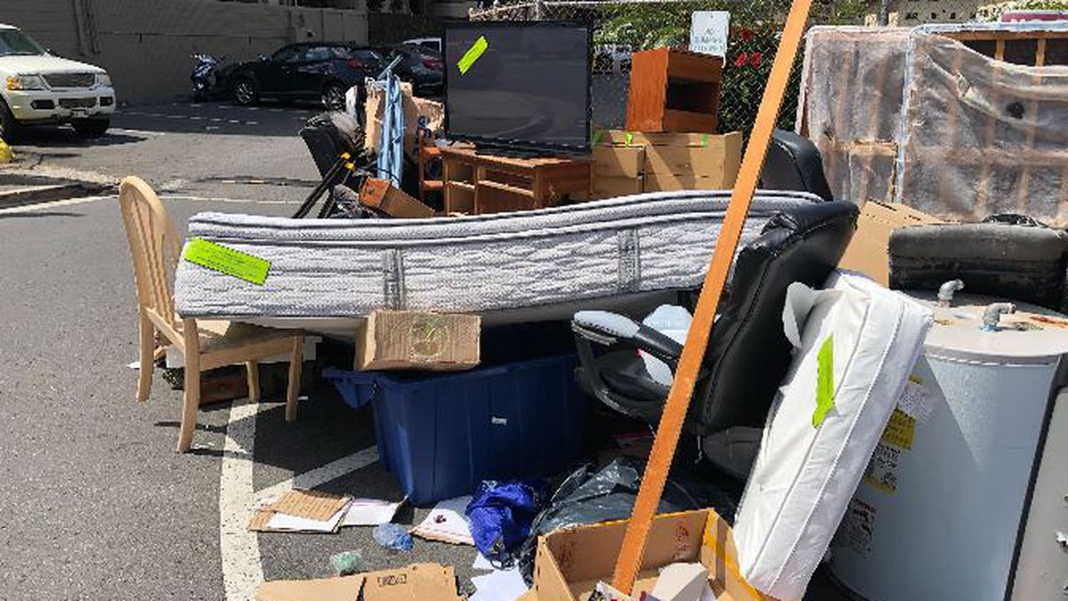 The city switched to an appointment-based system for its bulky trash pickup in the urban core....