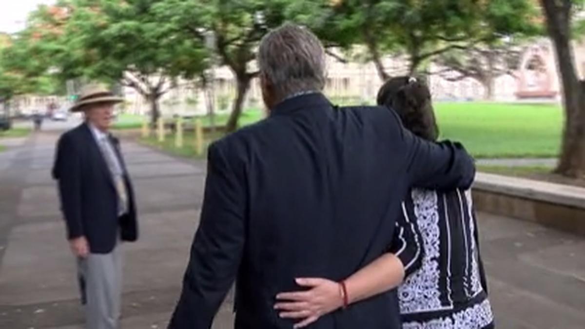 Ex-Honolulu Police Chief Louis Kealoha walking with his wife, former Honolulu deputy prosecutor...
