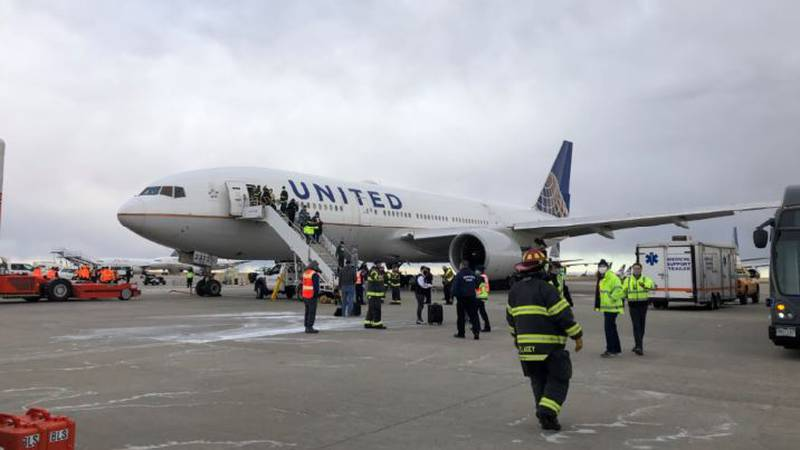 The damaged engine dropped parts all over suburbs in Colorado before the plane safely landed...