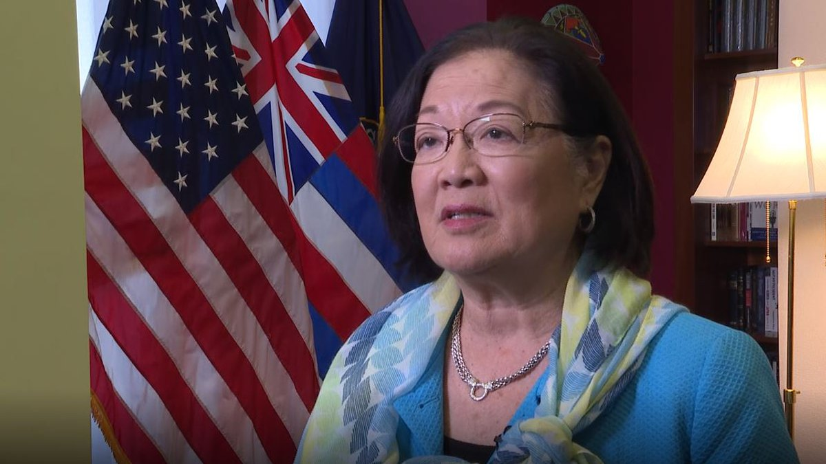 U.S. Sen. Mazie Hirono, D-Hawaii, stood by her questions to a judicial nominee.