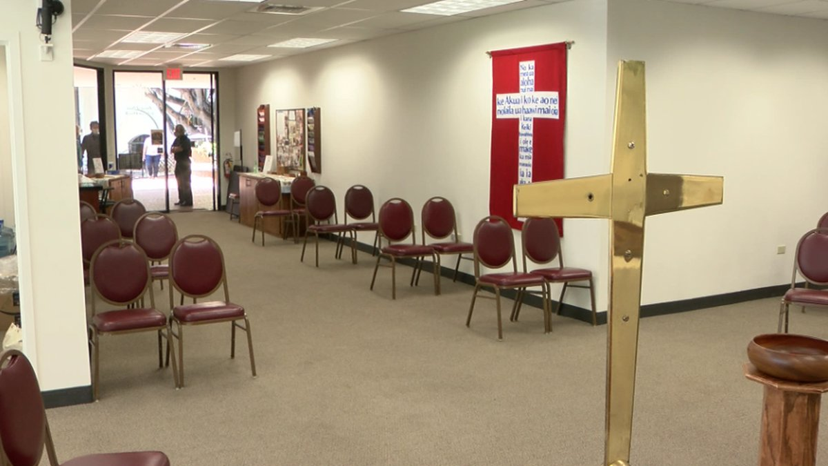 Prince of Peace Lutheran Church in Waikiki will hold services this Sunday -- but only after...