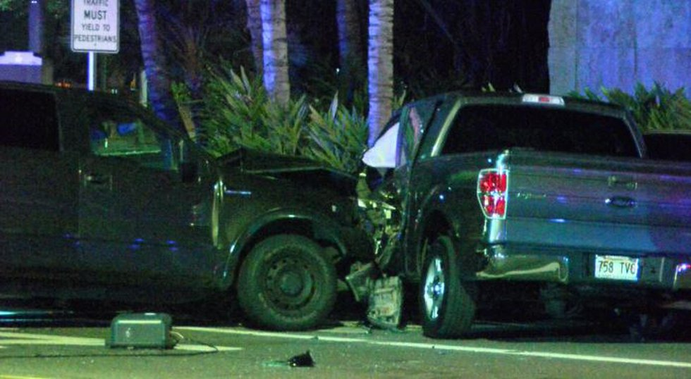 The driver of a pickup truck that plowed through a group of pedestrians and then hit another...