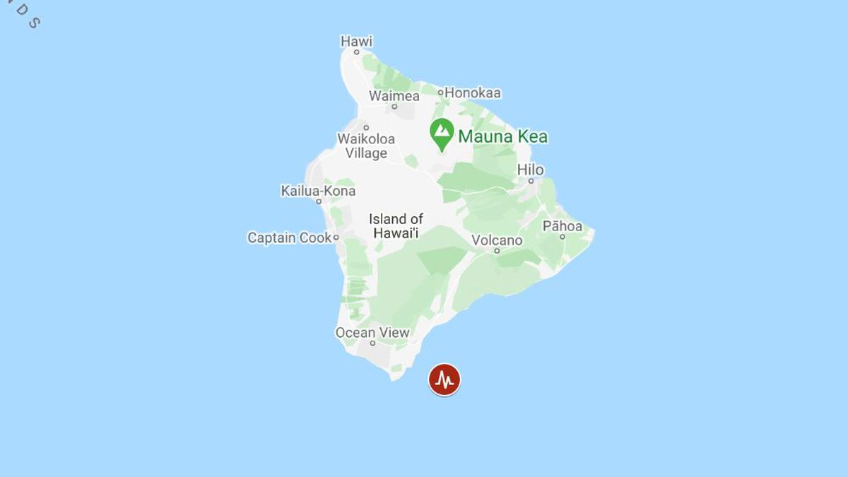 Residents reported feeling shaking after a 4.8 magnitude quake struck off Hawaii Island.