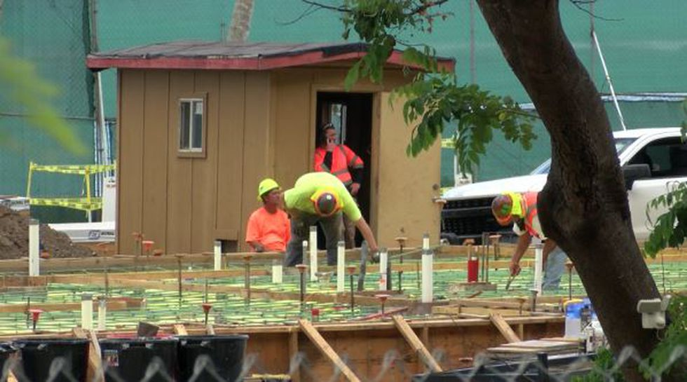 Waimanalo site under construction, believed to be future home of the Obamas