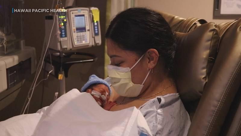 "Lavinia ""Lavi"" Mounga gave birth on board a Delta Air Lines flight bound for Honolulu."