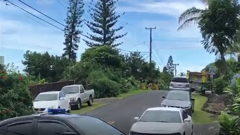 Big Island police are at the scene of an ongoing barricade situation in Kalaoa.