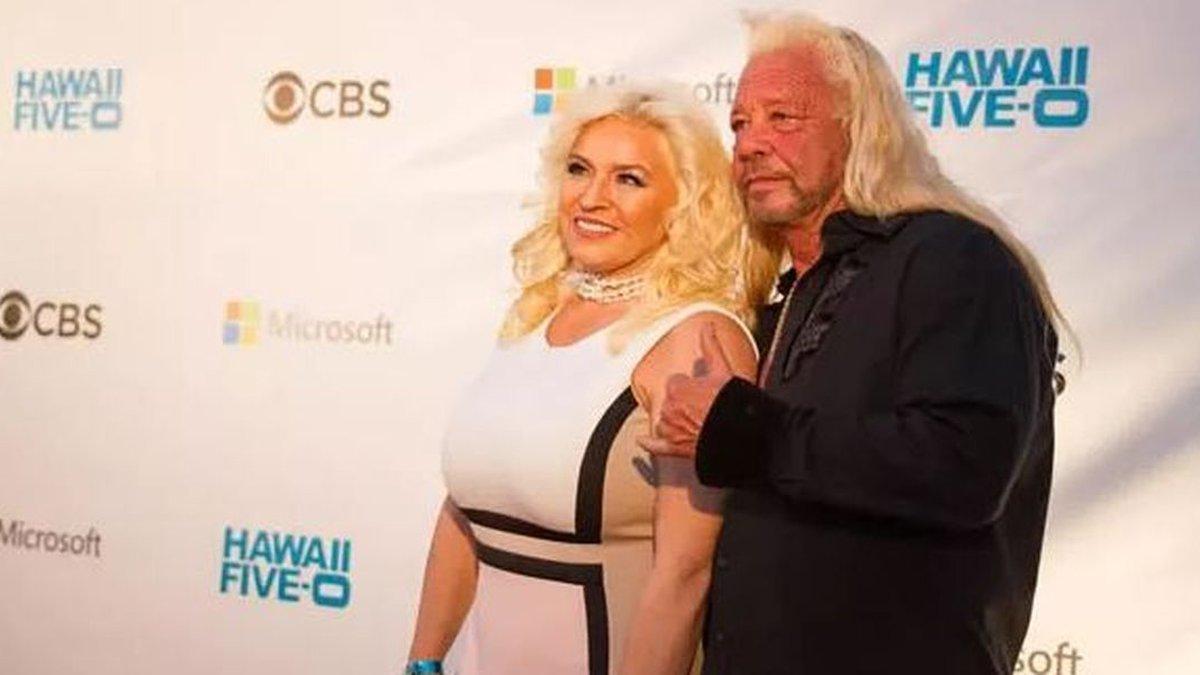Beth Chapman alongside husband Duane 'The Dog' Chapman at the Hawaii Five-O Sunset on the Beach...