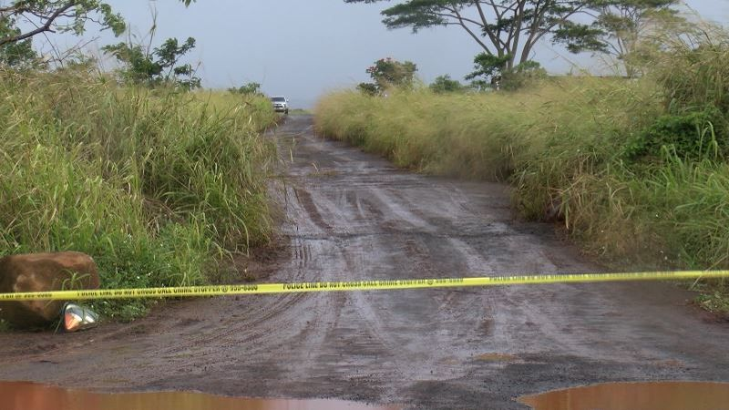 Police were out in the rain and mud Saturday investigating a gruesome shooting in Whitmore...