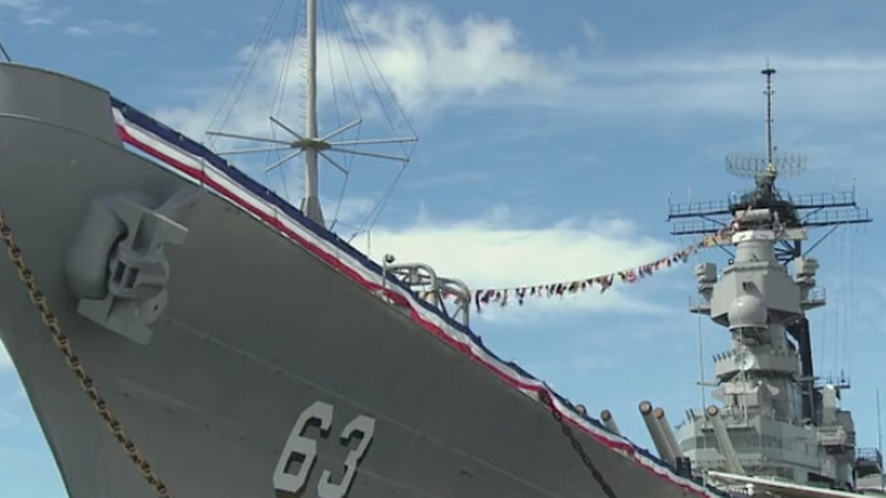 A somber ceremony was held Wednesday to mark the 75th anniversary of the end of World War II.