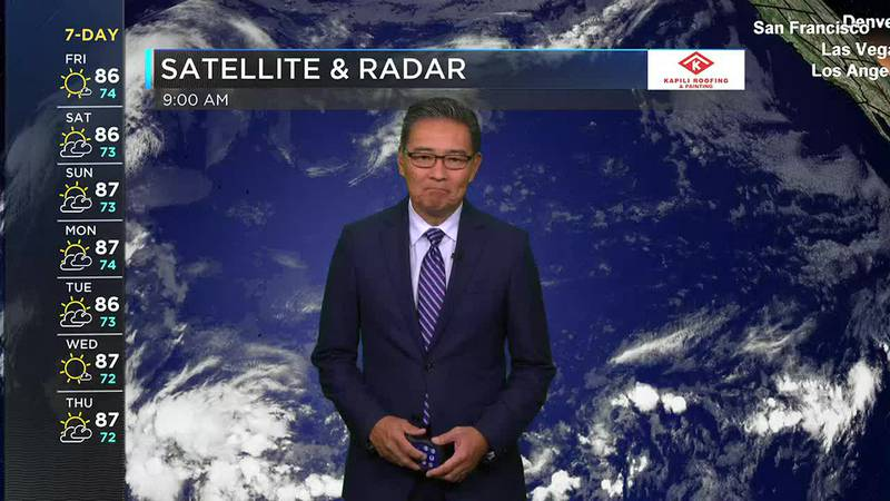 Morning Weather Forecast from Hawaii News Now - Friday, October 15, 2021
