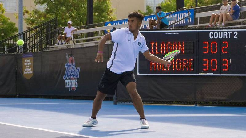 University of Hawaii men's tennis player Andre Ilagan wrapped up a historic run in the ITA...