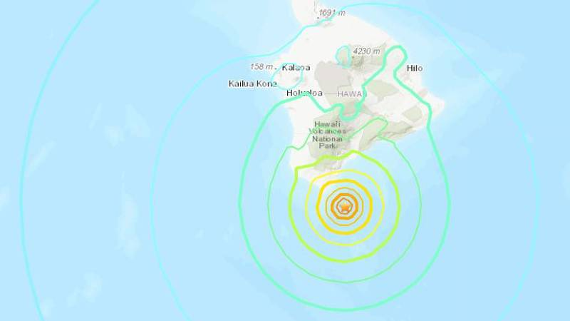 USGS said the quake was centered about 22 miles deep.