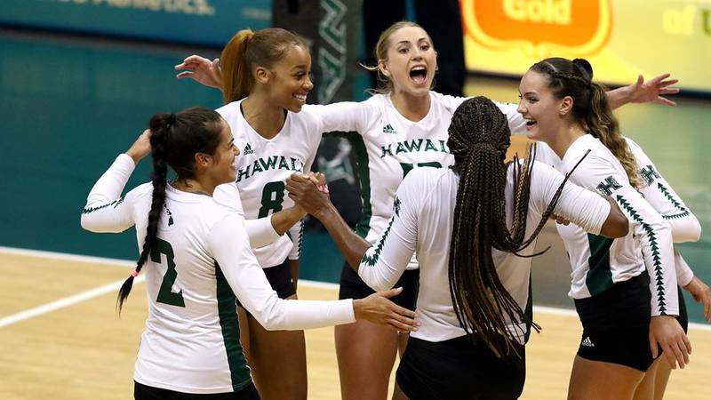 The University of Hawaii Rainbow Wahine volleyball team continues their tear of the Big West...