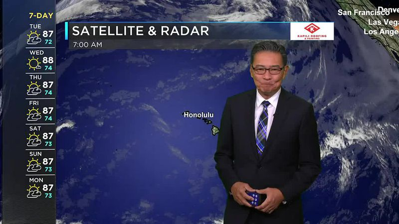 Morning Weather Forecast from Hawaii News Now - Tuesday, June 1, 2021